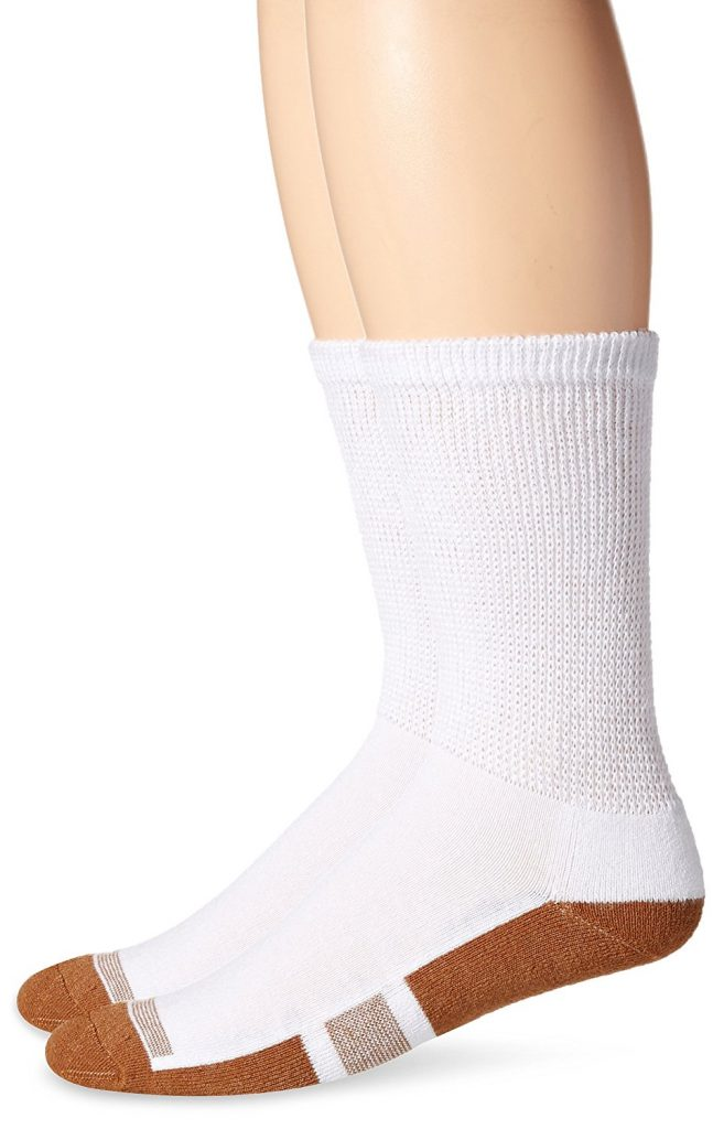 White Medium Length Socks