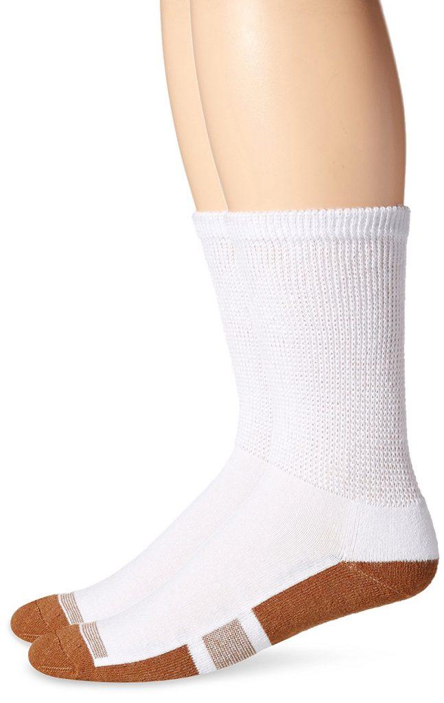 White Medium Length Socks