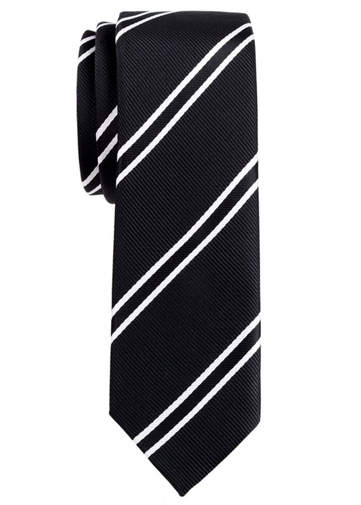 Black Striped Tie