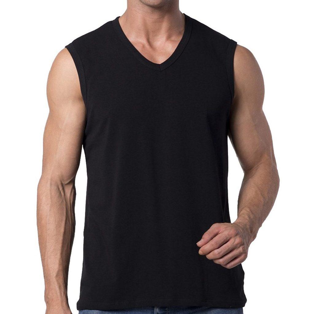 Sleeveless V-Neck T-Shirt