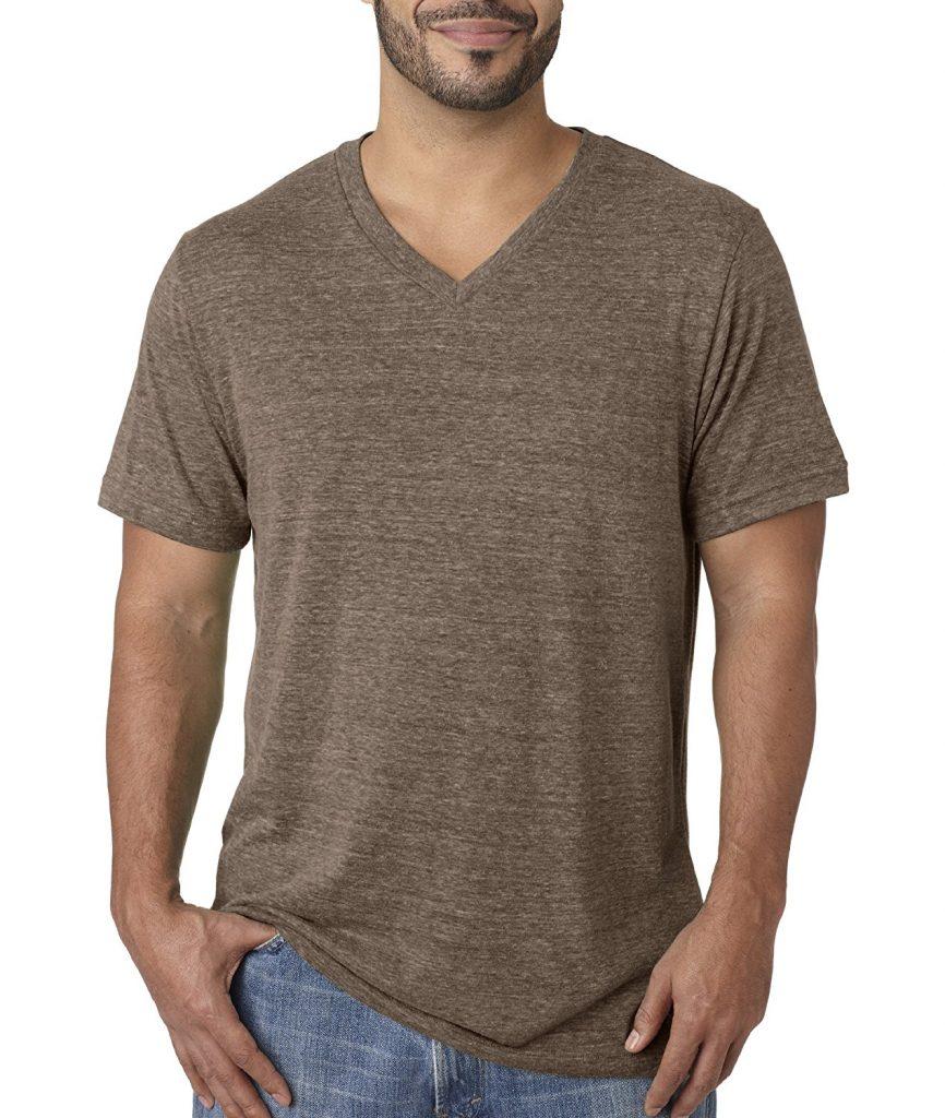 Brown V-Neck Shirt